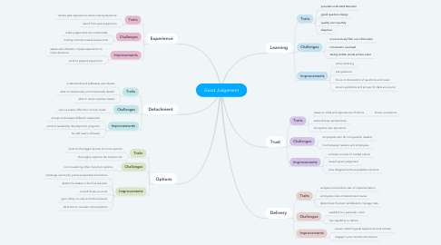 Mind Map: Good Judgement