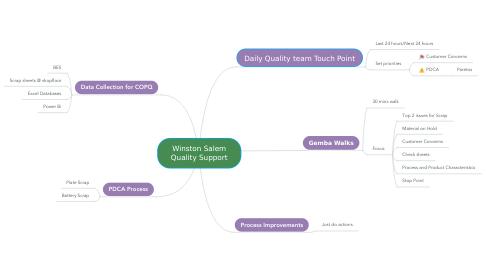 Mind Map: Winston Salem Quality Support