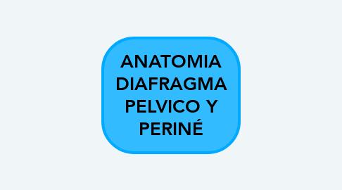 Mind Map: ANATOMIA DIAFRAGMA PELVICO Y PERINÉ