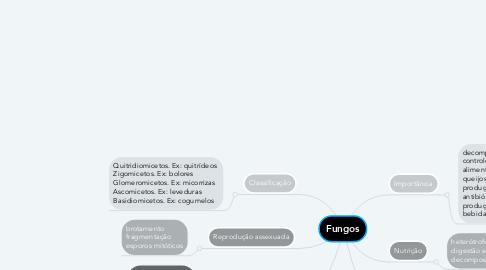 Mind Map: Fungos