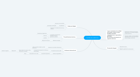 Mind Map: Cartilla de evidencias