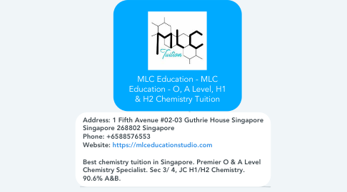 Mind Map: MLC Education - MLC Education - O, A Level, H1 & H2 Chemistry Tuition