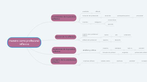 Mind Map: maestro como profesional reflexivo