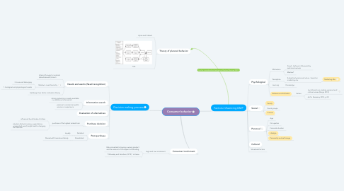 Mind Map: Consumer behavior