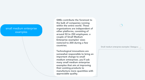 Mind Map: small medium enterprise examples