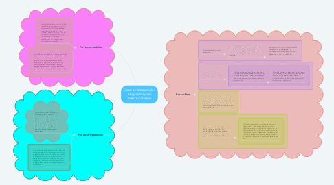 Mind Map: Características de las Organizaciones Internacionaless