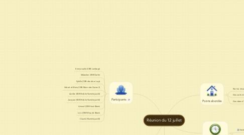 Mind Map: Réunion du 12 juillet