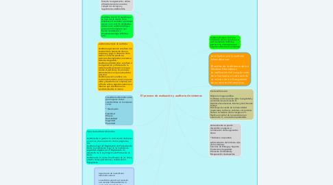 Mind Map: El proceso de evaluación y auditoria de sistemas