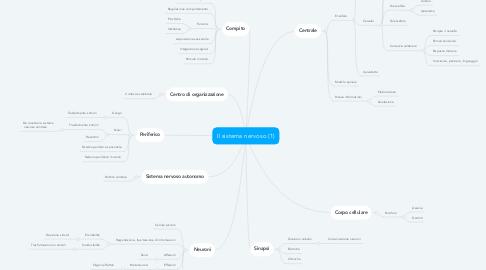 Mind Map: Il sistema nervoso (1)