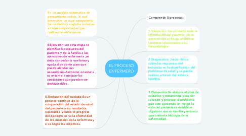 Mind Map: EL PROCESO ENFERMERO