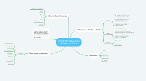 Mind Map: BIOTRANSFORMACIÓN FARMACOLÓGICA
