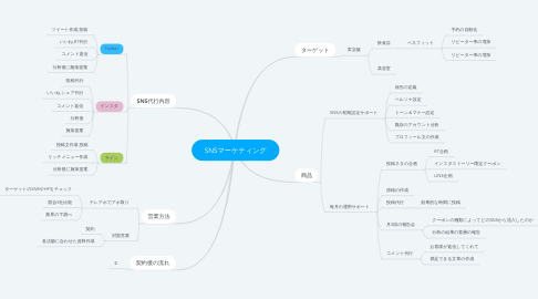 Mind Map: SNSマーケティング