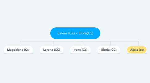 Mind Map: Javier (Cc) x Dora(Cc)