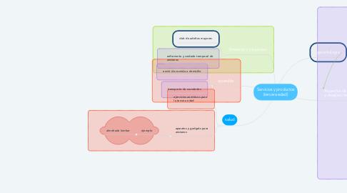 Mind Map: Servicios y productos (tercera edad)