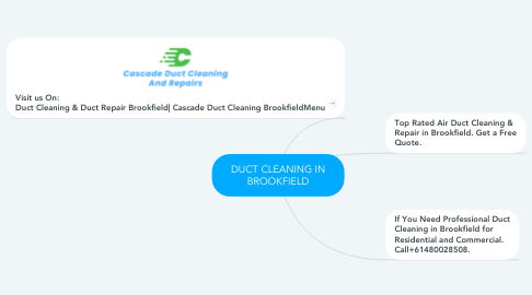 Mind Map: DUCT CLEANING IN BROOKFIELD