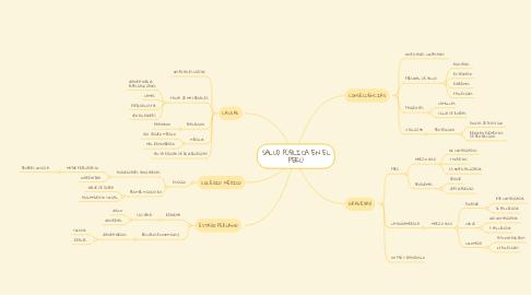 Mind Map: SALUD PÚBLICA EN EL PERÚ
