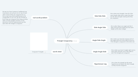 Mind Map: Triangle Congruency