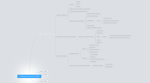 Mind Map: Subsistemas de organización de RRHH