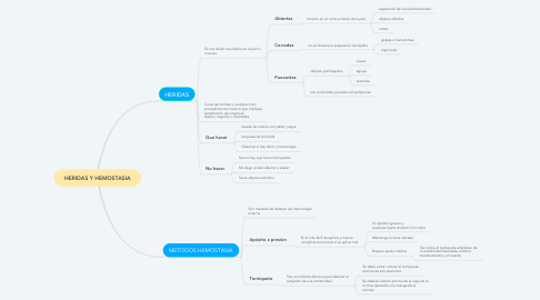 Mind Map: HERIDAS Y HEMOSTASIA