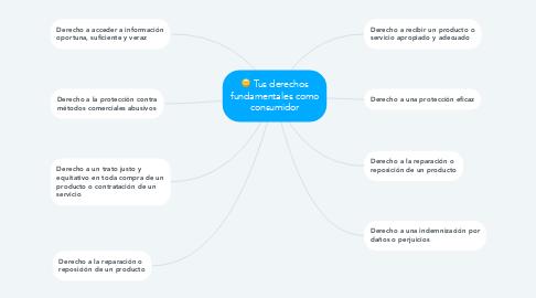 Mind Map: Tus derechos fundamentales como consumidor
