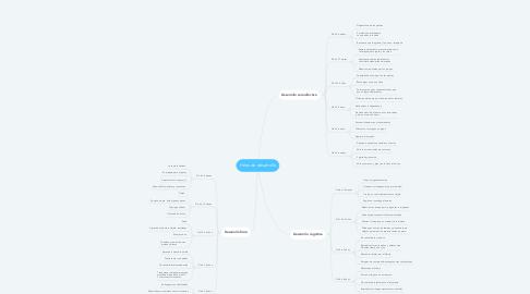 Mind Map: Hitos de desarrollo