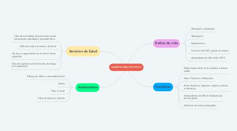 Mind Map: DIABETES MELLITUS TIPO 2