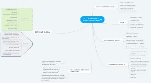 Mind Map: EL CONTADOR EN EL CAMPO EMPRESARIAL
