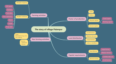 Mind Map: The story of village Palampur