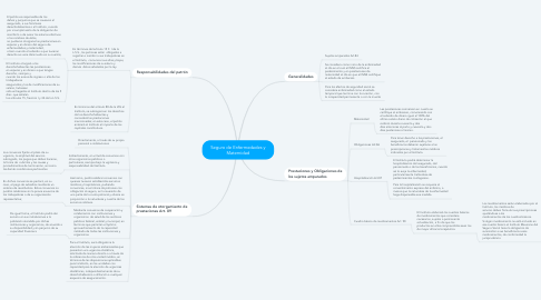 Mind Map: Seguro de Enfermedades y Maternidad