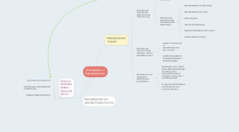 Mind Map: Investigación e Industrialización
