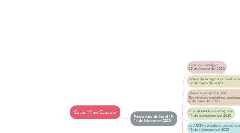 Mind Map: Covid 19 en Ecuador