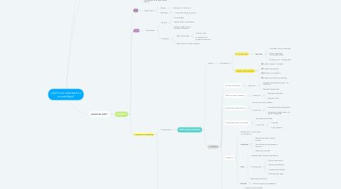 Mind Map: ¿Qué hace competente a un psicólogo?