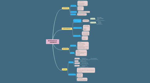 Mind Map: BIOMOLECULAS     ORGÁNICAS