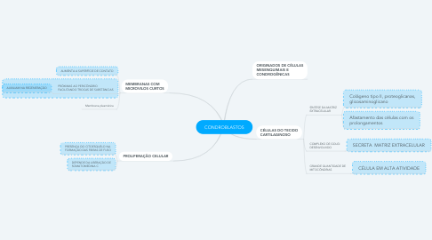 Mind Map: CONDROBLASTOS