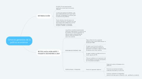 Mind Map: Criterios generales de la política económica.
