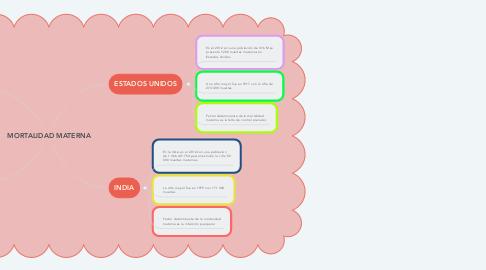 Mind Map: MORTALIDAD MATERNA