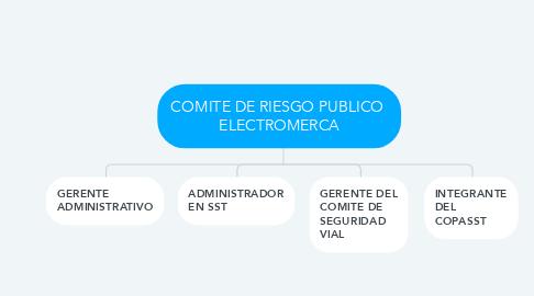Mind Map: COMITE DE RIESGO PUBLICO  ELECTROMERCA
