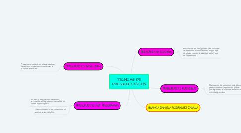 Mind Map: TECNICAS DE PRESUPUESTACION