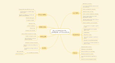 Mind Map: SALUD AMBIENTAL - CAMBIAR LA ECOLOGIA