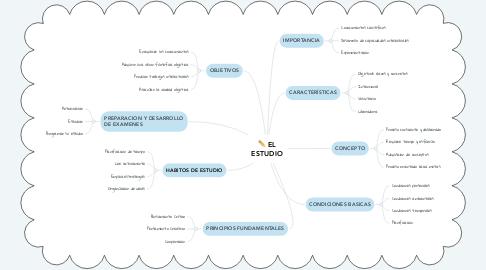 Mind Map: EL ESTUDIO