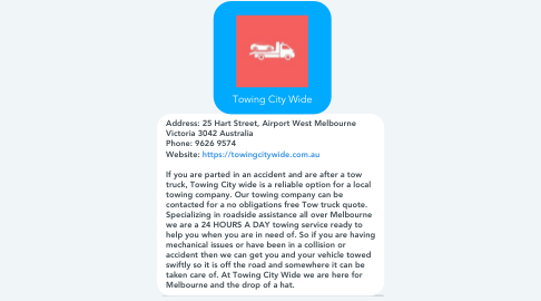 Mind Map: Towing City Wide
