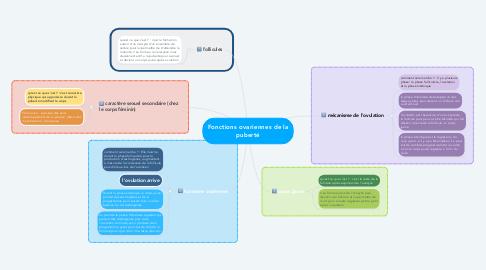 Mind Map: Fonctions ovariennes de la puberté