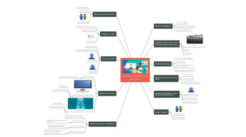 Mind Map: Modelos utilizados por el B-Learning