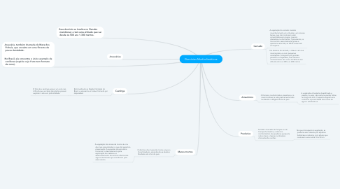 Mind Map: Domínios Morfoclimáticos