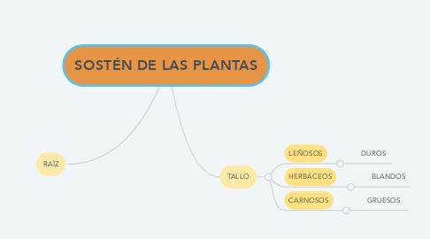 Mind Map: SOSTÉN DE LAS PLANTAS
