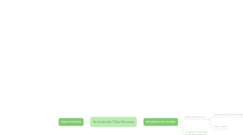 Mind Map: Articulación Tibio Peronea