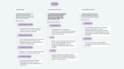 Mind Map: EL TACTO