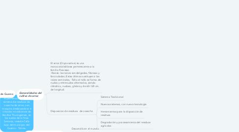 Mind Map: Implementación de un sistema de residuos de cosecha de arroz, con maquina desbrozadora e inóculos microbianos de Bacillus Thuringiensis, en los suelos de la finca Serrania, vereda Caña baja del municipio del Guamo - Tolima.