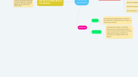 Mind Map: Famille et socialisation
