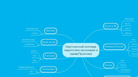 Mind Map: Омутнинский колледж педагогики экономики и права(Практика)